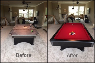 Pool Table Recovering In CincinnatiSOLO Expert Pool Table Refelting - Pool table movers toledo ohio
