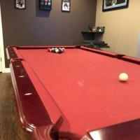 Beautiful 8' Cherry Pool Table
