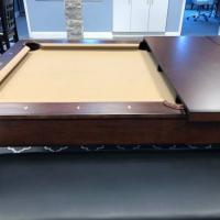 7' Pool Table with Dining Top & Bench Seats