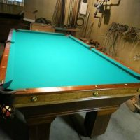 Antique Pool Table By National Billiard
