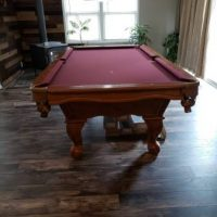 Slate Pool Table Burgundy Felt