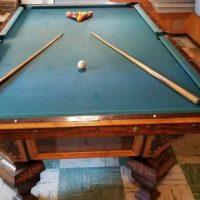 Antique 1878 Brunswick Nonpareil 9' Pool Table