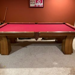 8' Peter Vitalie 3 Piece Slate includes balls and rack
